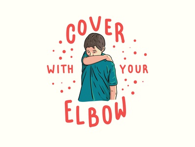 Cover with your elbow