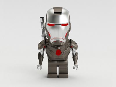 Lego Iron Man 2 ironman iron man weapon metal character 3d lego