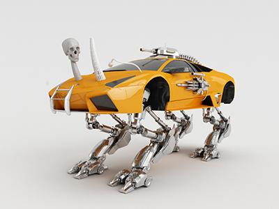 Monster Lamborghini monster lamborghini ferrari skull robot weapon orange supercar speed