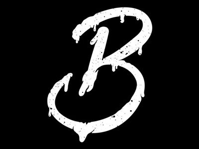 Letter B calligraphy alphabet graphicdesign typography vector illustration