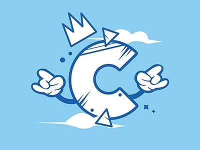 Letter C calligraphy alphabet graphicdesign typography vector illustration