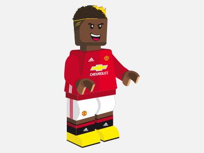 Paul Pogba - Manchester United adidas united manchester pogba lego illustration