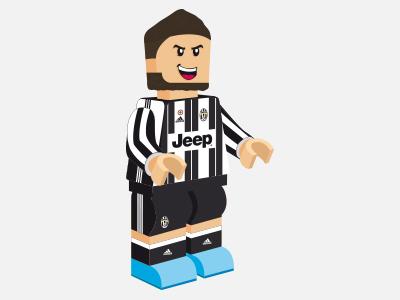 Gonzalo Higuaín - Juventus higuain juventus lego illustration nike