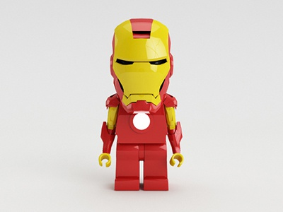 Lego Iron Man ironman iron man lego red yellow 3d cinema4d