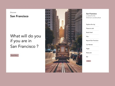 What will you do if you are in San Francisco?