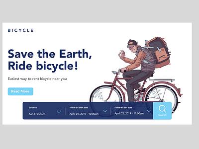 Save the Earth, Ride bicycle ui ux developer illustrator cc ui designer branding illustrator website webdeveloper web dribbble vector ux userexperiance uidesign uxdesign design webdesigner webdesign sketch