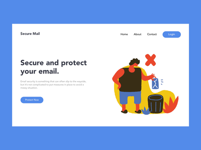 Secure your email developer illustrator cc ui designer branding illustrator webdeveloper web dribbble vector ux userexperiance uidesign uxdesign design webdesigner sketch webdesign website email