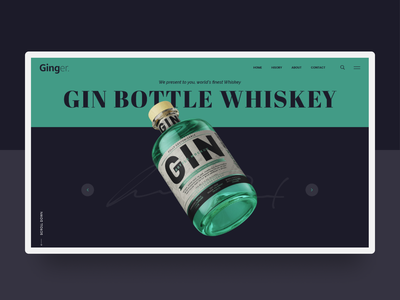 Ginger Whiskey singlepage landingpage ecommerce website ui branding ux minimal web typography whiskey
