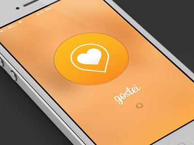 Gostei Splashscreen ios7 app gui ui interface splashscreen