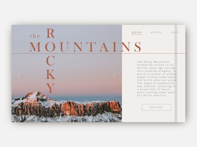Rocky Mountains Web Page