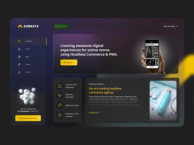Glassmorphism Dashboard Dark mode UI minimal website ui ux ux glassmorphism ui figma design dashboard ui dashboard design dark ui branding