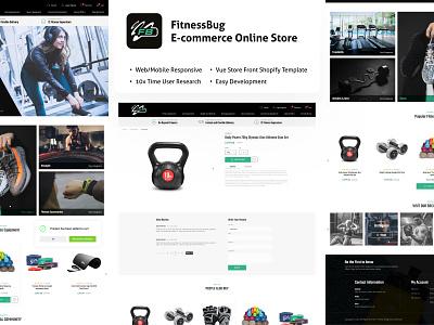 Shopify E-commerce Web UI online shopping 2021 trend branding fitness app gym app latest trend ui trends ui  ux webdesign storefront vue