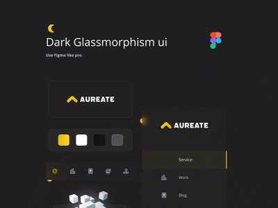 Dark Mode Glassmorphism UI ui branding design latest trend 2021 trend website ui ux dark ui dashboard design glassmorphism uiux webdesign figma figmadesign
