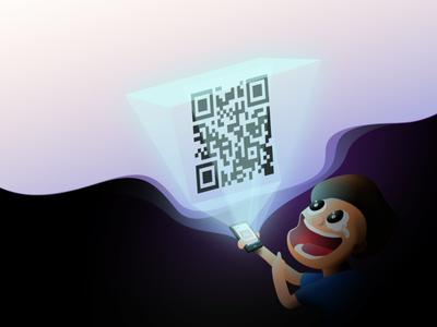 Holographic QR Code