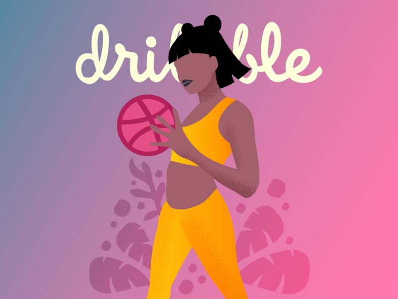 First shot on Dribbble illustrator minimal website flat vector ui design illustration