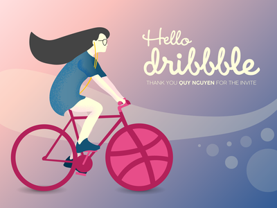 Hello Dribbble! debut shot debuts debut app website vector ui minimal illustrator illustration flat design