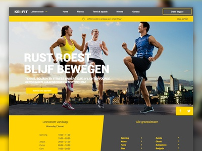 Redesign mockup for a local gym ux ui user experience user interface gym adaptive responsive web webdesign redesign