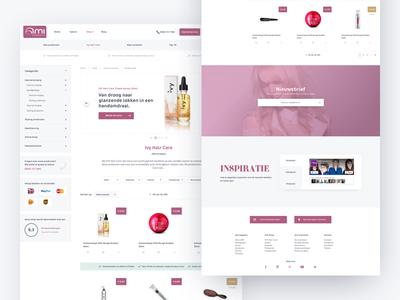 Ecommerce Shop Ami Kappers Netherlands Ui Ux Design website conversion web shop shop landingspage site webshop e-commerce