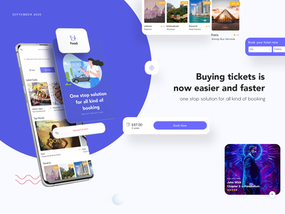 Booktic (Free Resource File) interface app design restaurant travel cinema event online booking managment ticket booking ios android vector web user experience ui ux design app