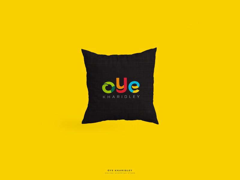 Oye Kharidley shot first dribbble debut ai design branding icon creative colors tshirt retail online typography illustration vector logo graphic design
