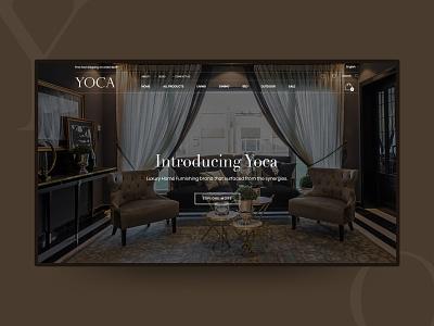 Website Design - Yoca brown web ecommerce website user experience ux ui logo typography responsive minimal interior furniture store ecommerc design creative