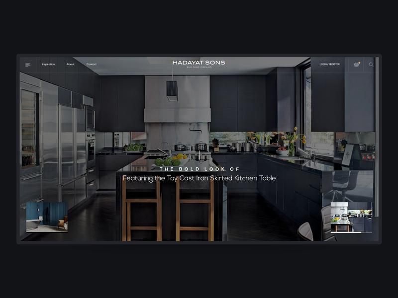 Hadayat Sons - Website home user interface life style branding typography design web website ui user experience interior design fitness