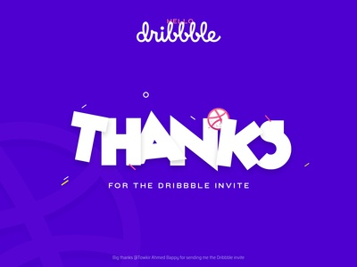 Thank you for the Invite ui typography logo illustration icon graphic flat creative clean character branding brand blue badge art app animation android after effect 3d