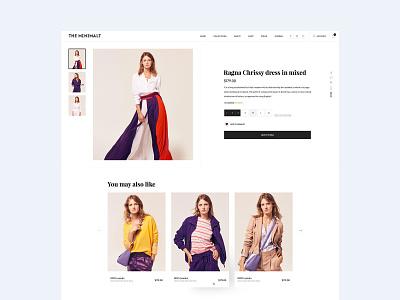 The Minimalt web design ui website clean typography ecommerce flat ux