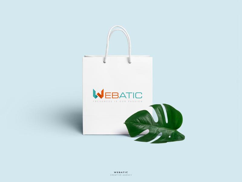 Webatic studios agency creative blue logo branding illustration vector icon app art badge black red brand character clean color design gif