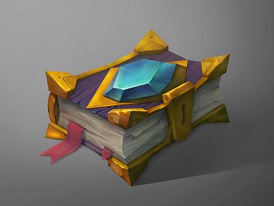 Spellbook spellbook gem crystal fantasy props magic warlock wow book concept art