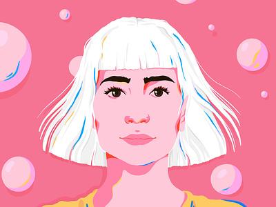 self portrait self-portrait self portrait portrait woman design female editorial illustration modern art josephinerais illustrator illustration