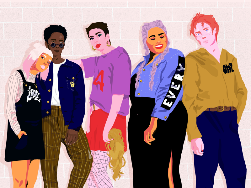 Love is for everyone! modern art josephinerais men women pro create fashion editorial illustration lgbt people illustrator illustration love