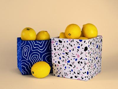 if life gives you lemons... pattern art art spring pot deoration pattern painting paint lemons modern art josephinerais illustrator illustration