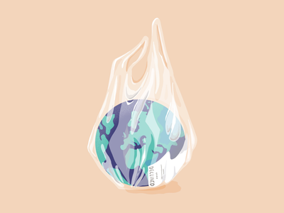 You can't buy a second one... josephinerais editorialillustration procreate plastic earth illustrator illustration earthday
