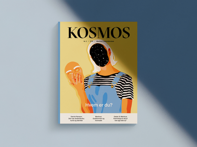 Cover Illustration for KOSMOS Magazine graphic design magazine cover illustration identify women space editorial illustration illustration cover art