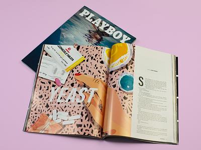 Illustrations for Playboy Magazine women pro create pattern design editorial art procreate female editorial illustration modern art josephinerais illustrator illustration playboy
