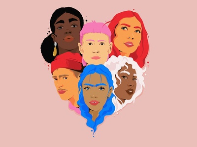 we're all the same and yet so different love art dribbble behance diversity humanity editorial art procreate editorial illustration modern art josephinerais illustrator illustration