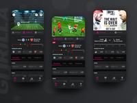 Gorilla - sports betting dark app dark ui dark black responsive web ios bookmaker interface esport sport bets betting mobile app design mobile app mobile ui mobile ux