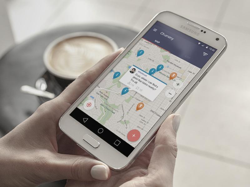 Chummy - help is near! help prototype app android ux ui chummy design