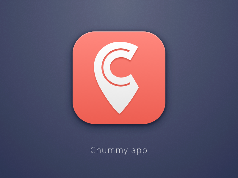 Chummy icon sketch chummy logo ios icon
