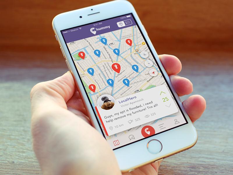 Location app interface design ux ui ios app location