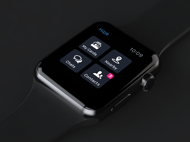 Hipe. Apple watch prototype design ux ui black watch interface ios