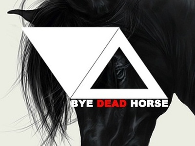 Bye Dead Horse horse geometry triangle album cover