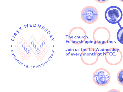 First Wednesday bible minimalist logo ministry minimalist wednesday circular badge church design church logo church jesus branding circular logo god fellowship christ christian design christian logo christianity christian
