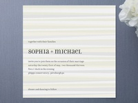 Grain Wedding Invitations