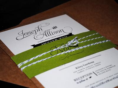 """I Do!"" Printed. typography wedding invitations print"
