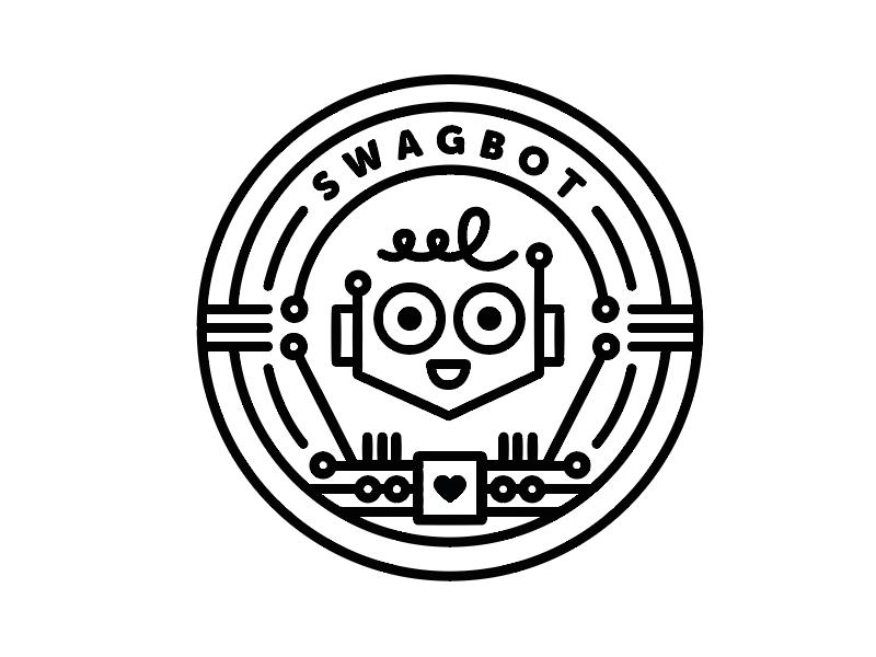 Swagbot Badge swagbot circuit badge robot