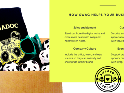 Swagbot Website delivery boxes swag