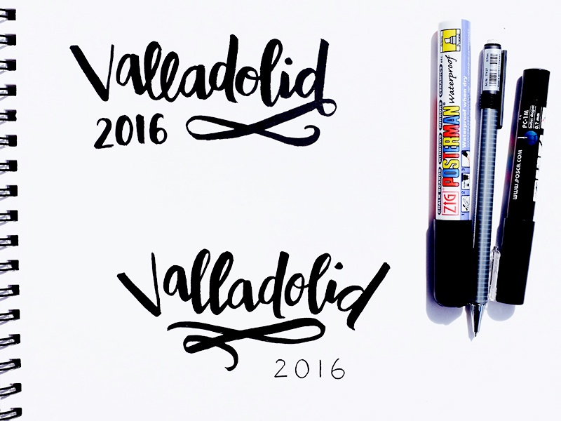 Valladolid typography lettering hand lettering