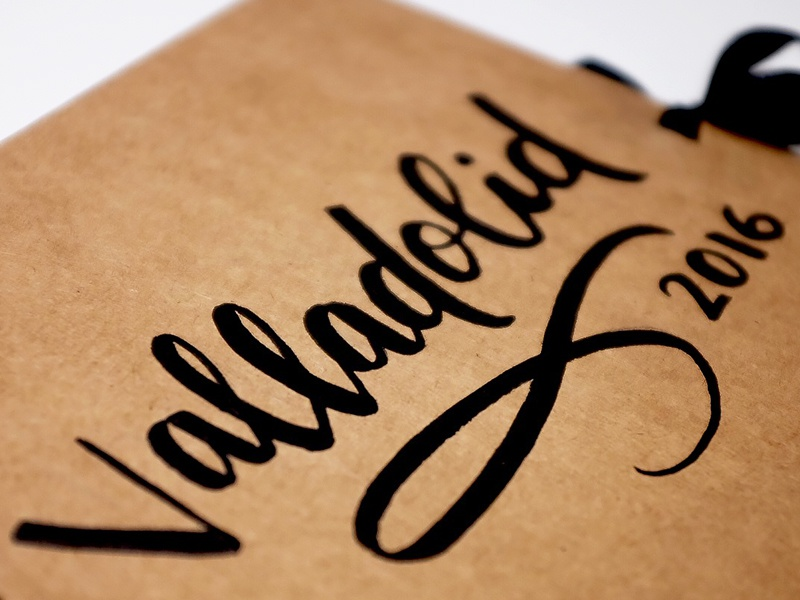 Valladolid photo album handdrawn type typography lettering hand lettering